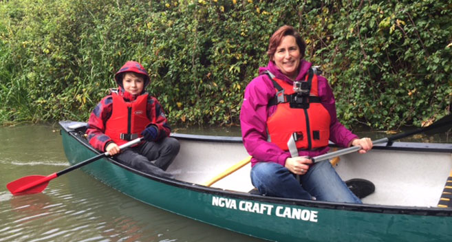 Canoeing in Devizes