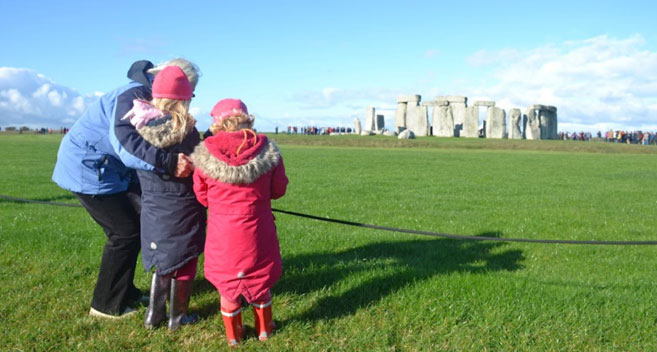 Family at Stonehenge, Amesbury, Wiltshire