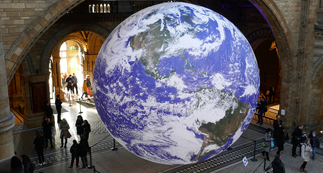 Gaia at the Natural History Museum