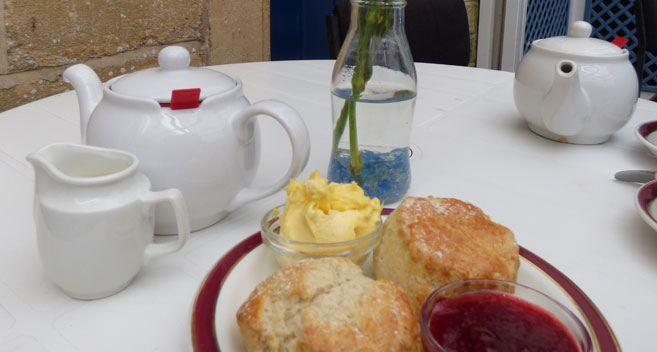 Cream tea at Iford Manor
