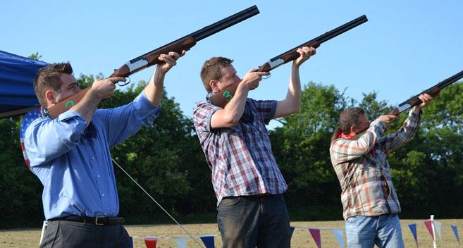Laser Clay Shooting at Bowood
