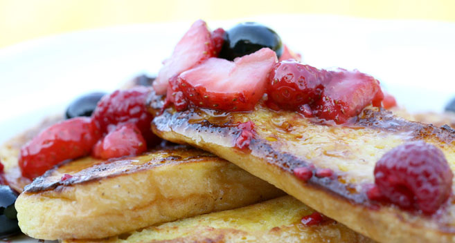 Pancakes at Meadowbank House B&B