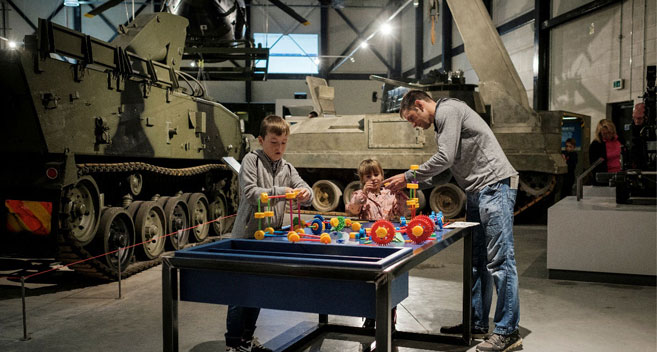Interactive games at REME Museum
