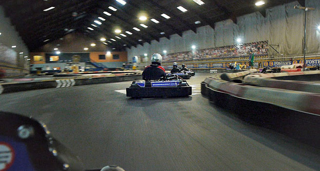 Go karting at Wessex Raceway
