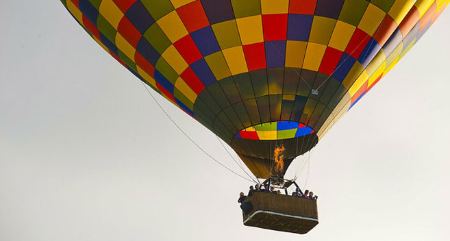 hot air balloon over Wiltshire