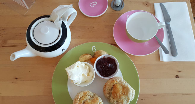 Cream tea at Beatons
