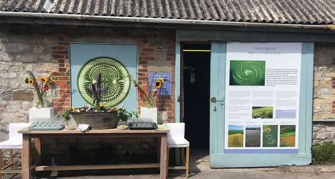 Crop Circle Exhibition in the Vale of Pewsey