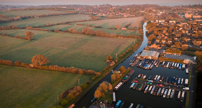 Devizes Marina seen from above
