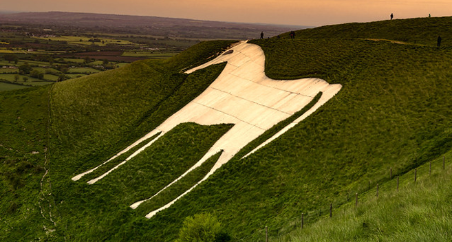 Westbury White Horse in Wiltshire