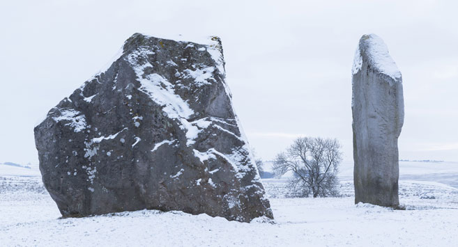 Avebury in snow