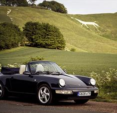 Porche outside the White Horse