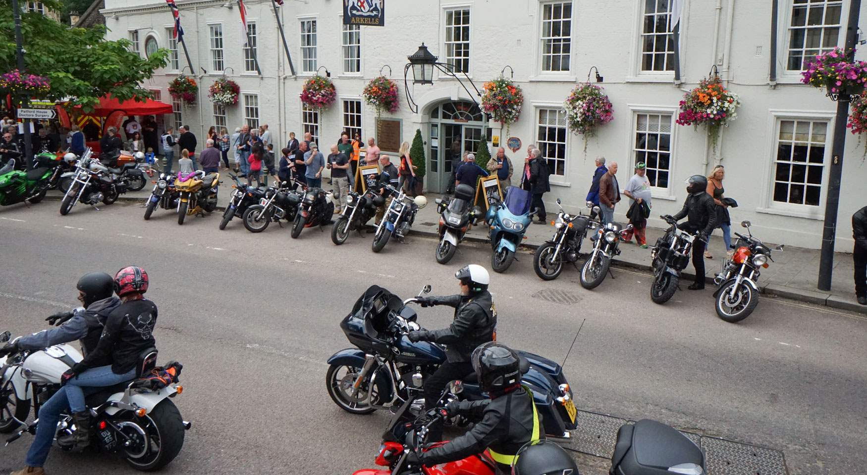 Motorcyles outside The Lansdowne Strand - copyright Paul Stallard