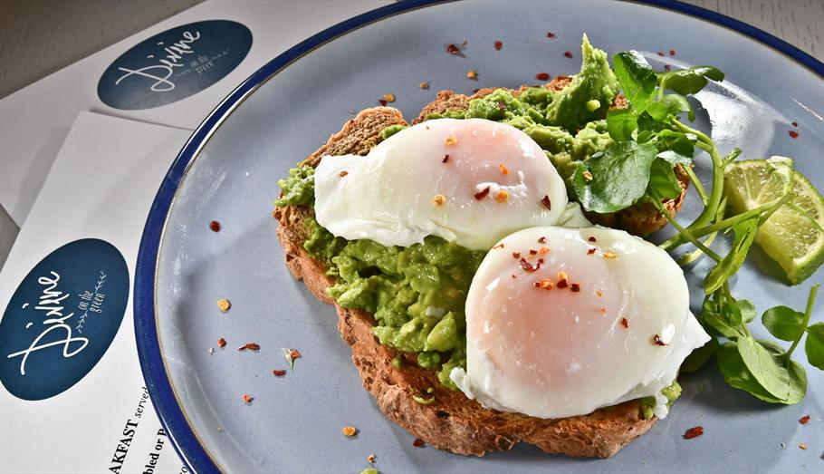 Eggs on toast at Divine on the Green