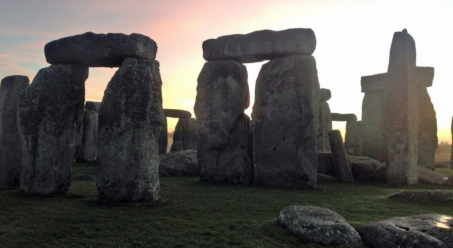Stonehenge at dawn (C) English Heritage