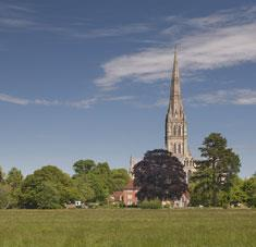 View towards Salisbury Cathedral