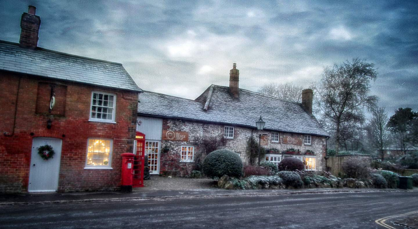 winter christmas Avebury village