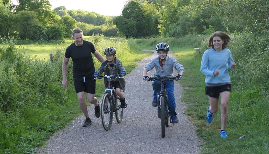 Cycling in Calne - copyright Paul Stallard