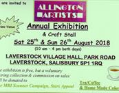 Allington Artists Annual Exhibition and Craft Stall