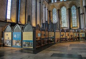 Pulling out the Stops exhibition at Salisbury Cathedral