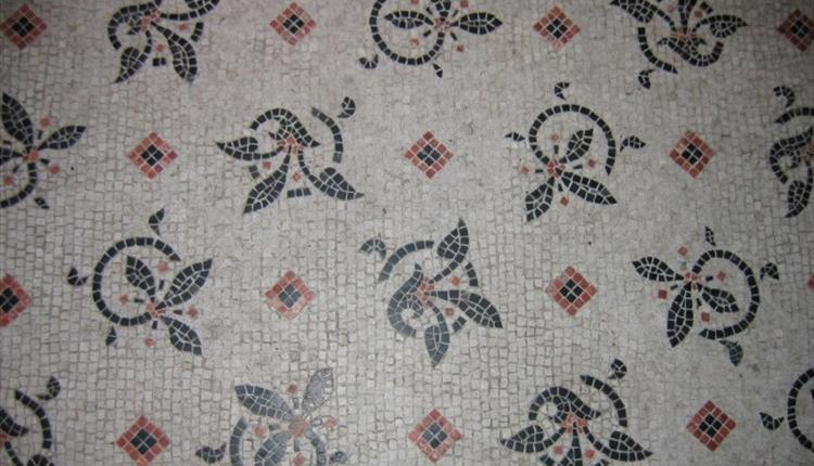 Tiled floor pattern, St Mary's Church