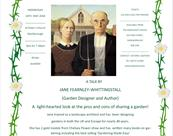 The Merchant's House lecture: Gardening Couples: are two heads always better than one? by Jane Fearnley-Whittingstall