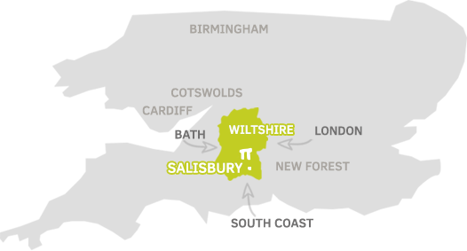Map of Salisbury